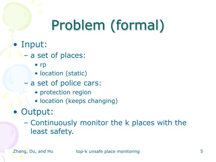 Problem (formal)