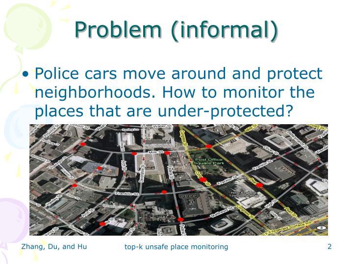 Problem (informal)