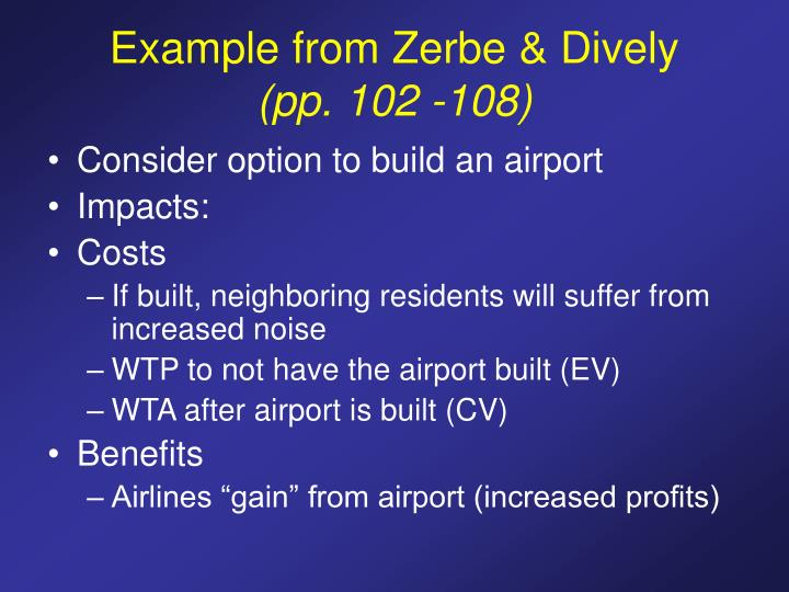 Example from Zerbe & Dively