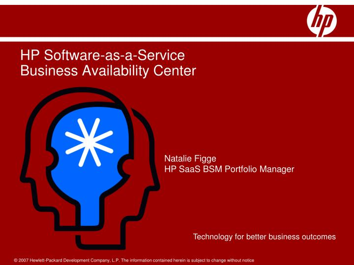 Hp software as a service business availability center