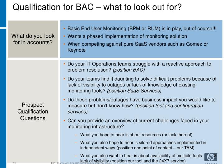 Qualification for BAC – what to look out for?