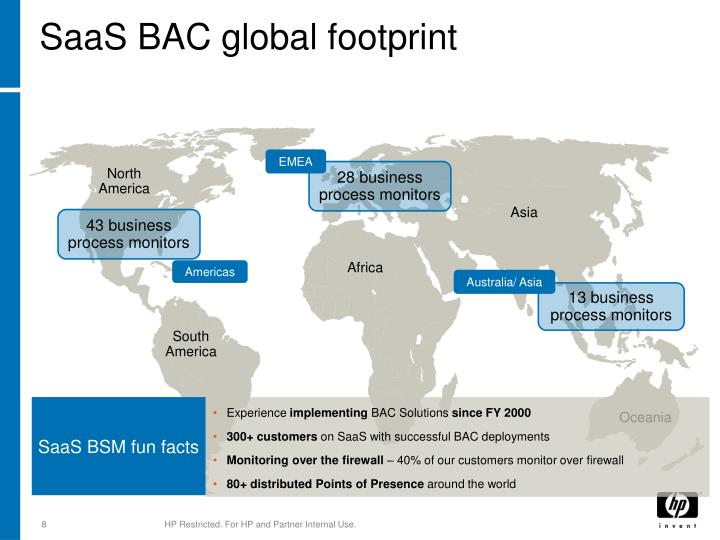 SaaS BAC global footprint
