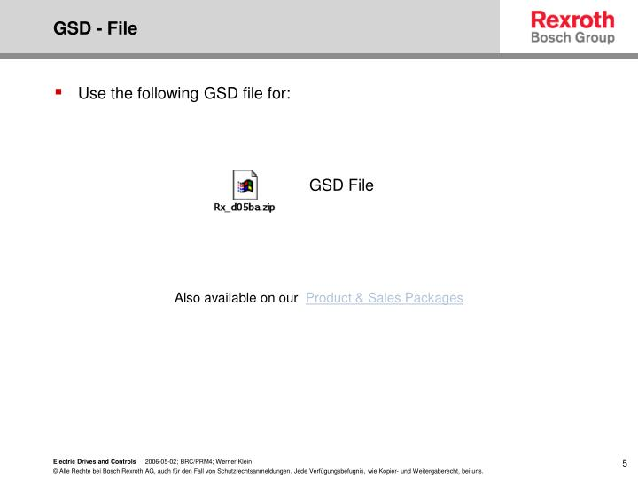 GSD - File