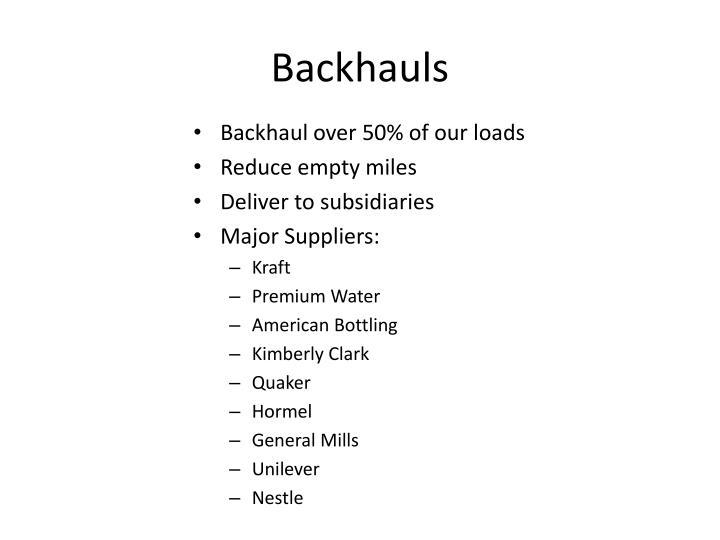Backhauls