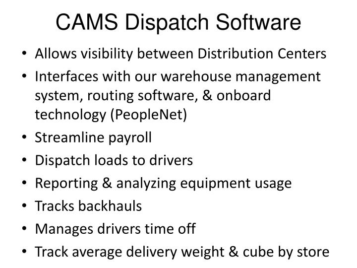 CAMS Dispatch Software
