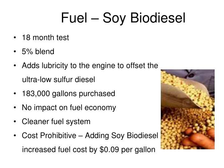 Fuel – Soy Biodiesel