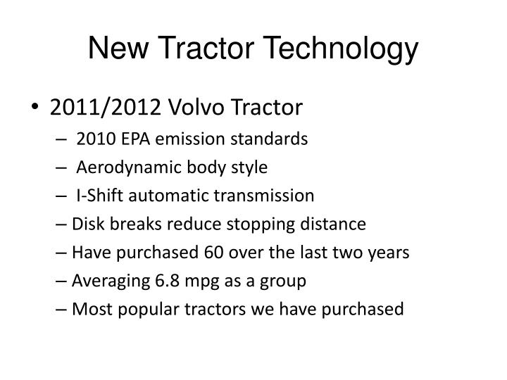 New Tractor Technology