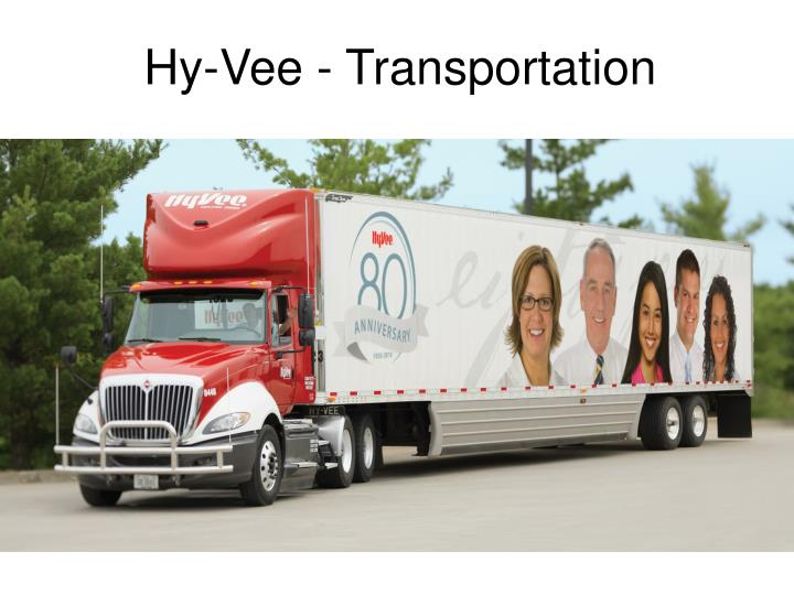 Hy-Vee - Transportation