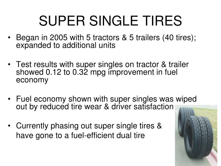 SUPER SINGLE TIRES