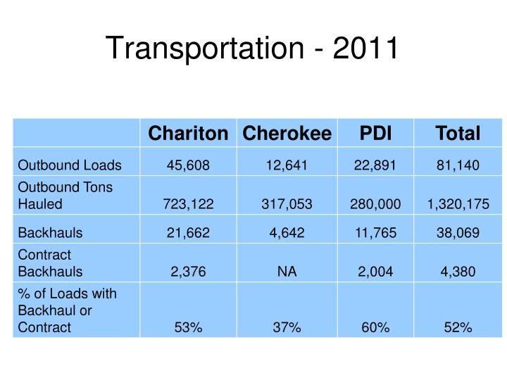 Transportation - 2011