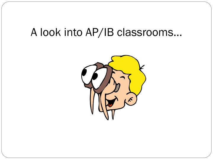 A look into AP/IB classrooms…