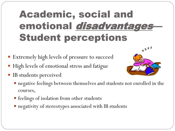 Academic, social and emotional