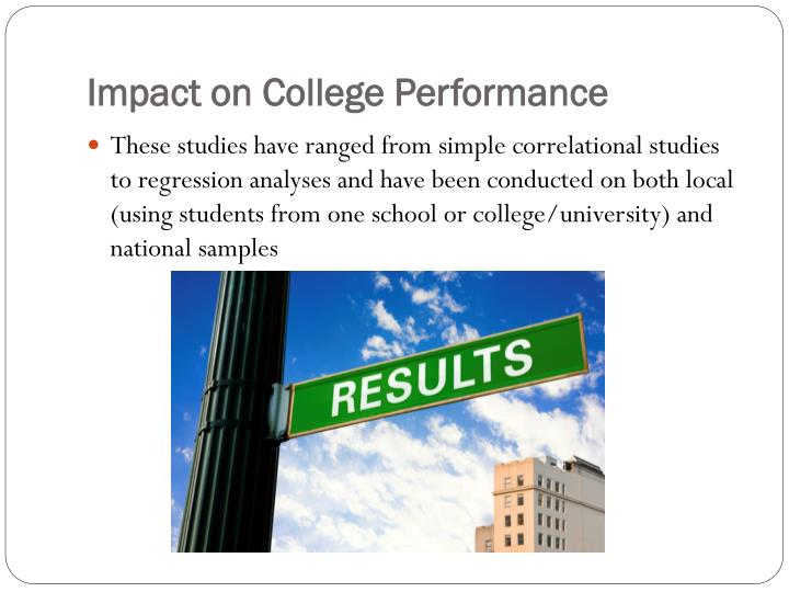Impact on College Performance