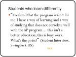 students who learn differently