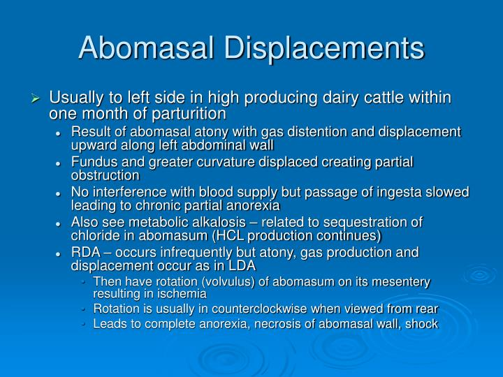 Abomasal Displacements