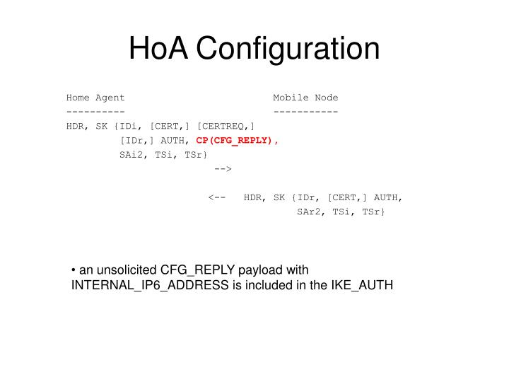 HoA Configuration