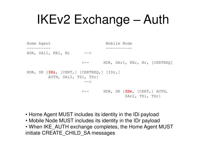 IKEv2 Exchange – Auth
