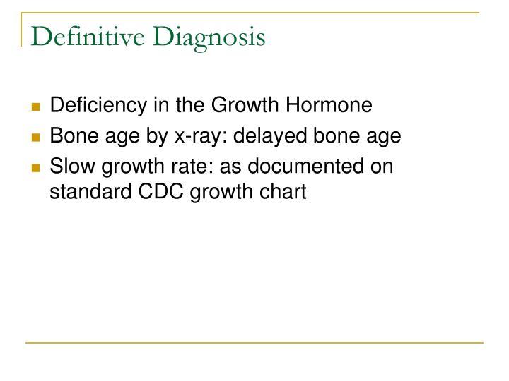 Definitive Diagnosis