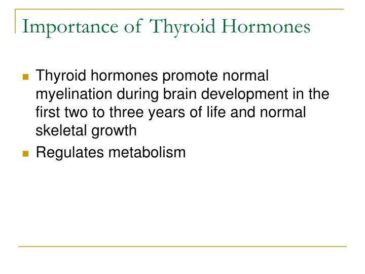 Importance of Thyroid Hormones
