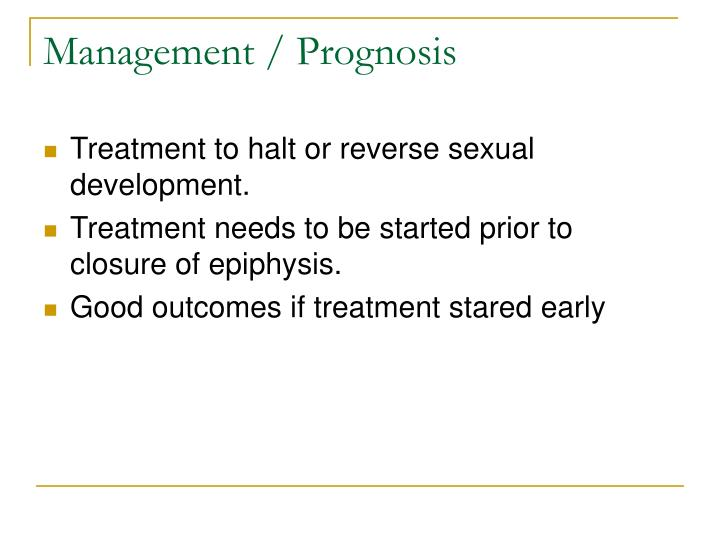 Management / Prognosis