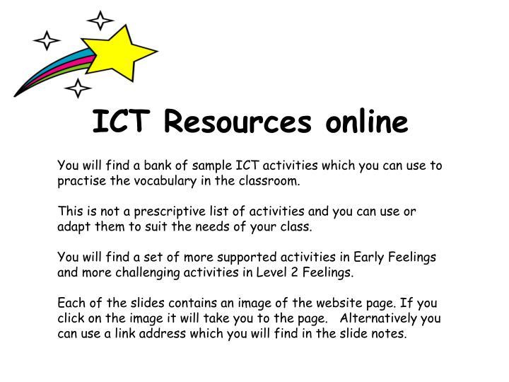 ICT Resources online
