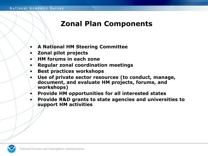 Zonal Plan Components