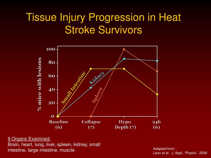 Tissue Injury Progression in Heat Stroke Survivors