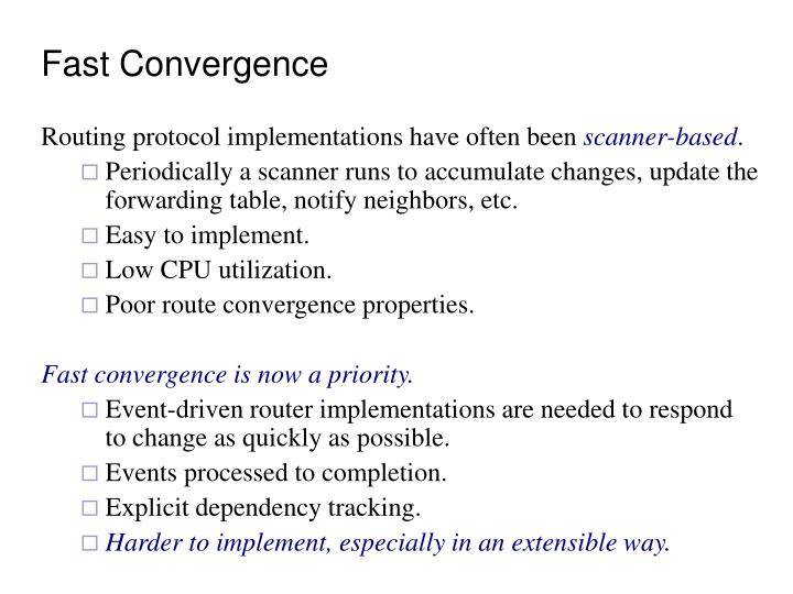 Fast Convergence