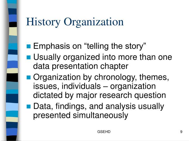 History Organization