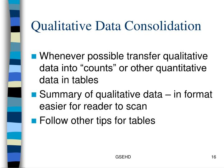 Qualitative Data Consolidation