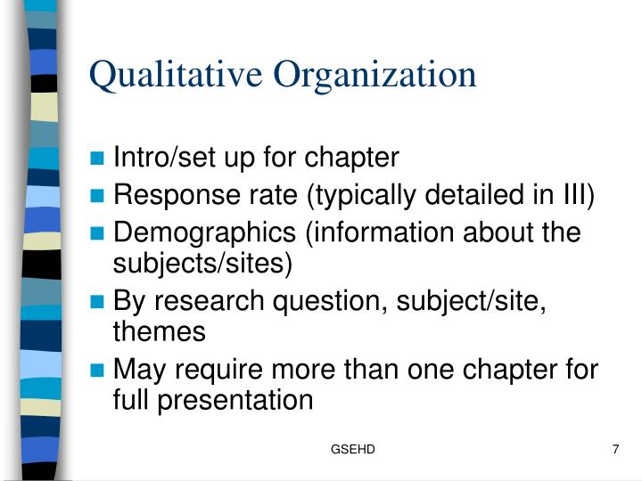 Qualitative Organization