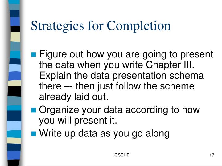 Strategies for Completion