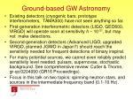 ground based gw astronomy