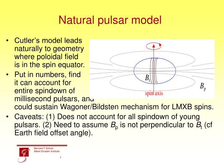 Natural pulsar model