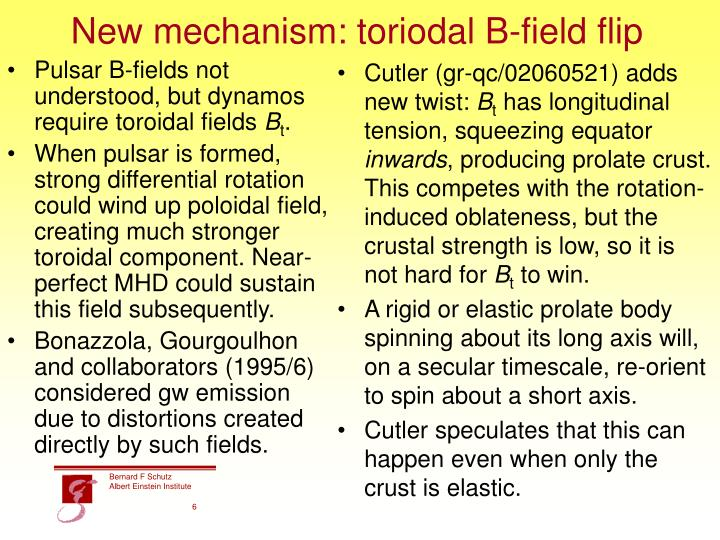 New mechanism: toriodal B-field flip