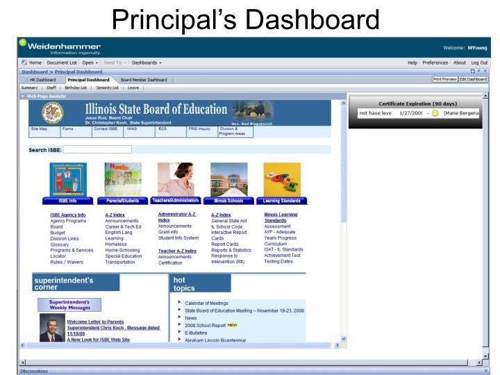 Principal's Dashboard