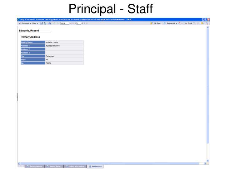 Principal - Staff