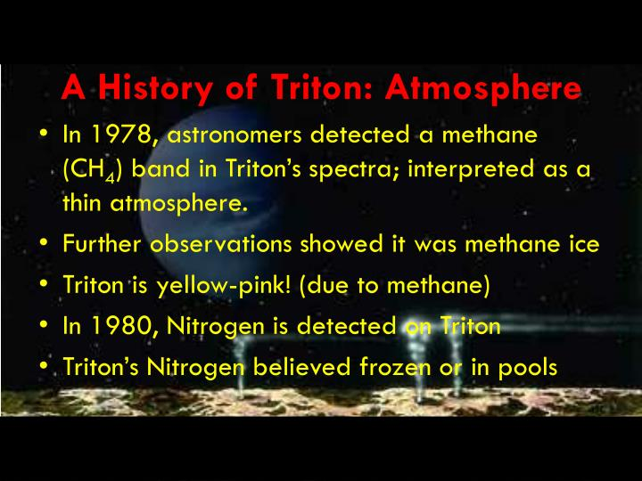 A History of Triton: Atmosphere