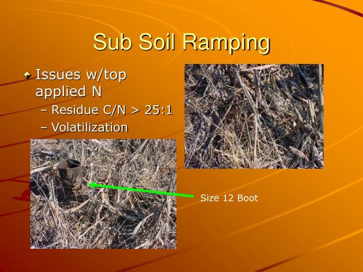 Sub Soil Ramping