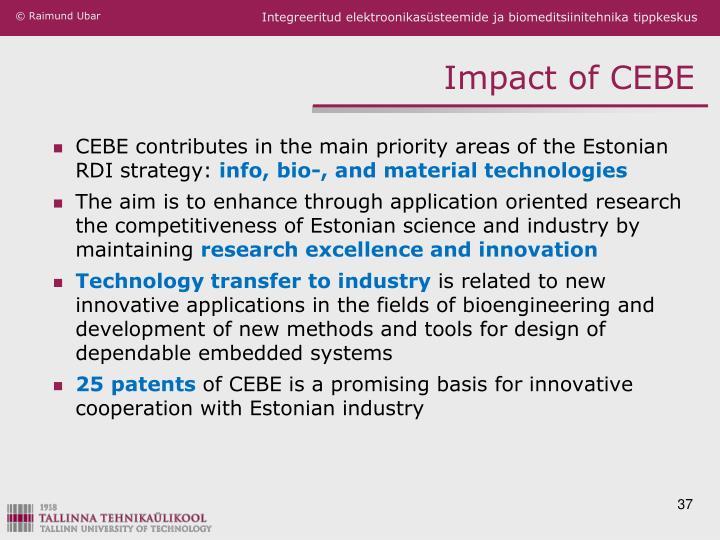 Impact of CEBE