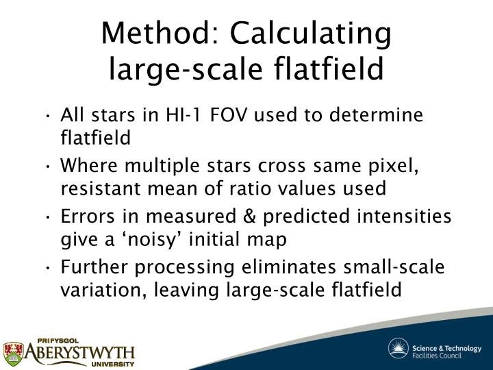 Method: Calculating large-scale flatfield