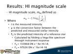 results hi magnitude scale