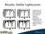 results stellar lightcurves