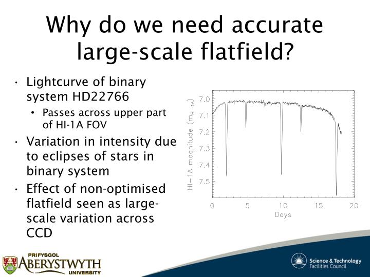 Why do we need accurate large-scale flatfield?