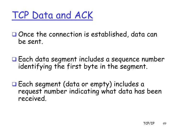 TCP Data and ACK