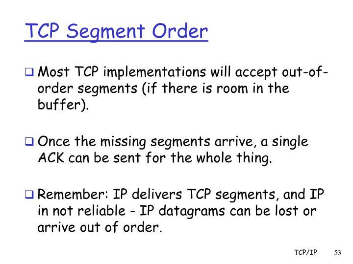 TCP Segment Order