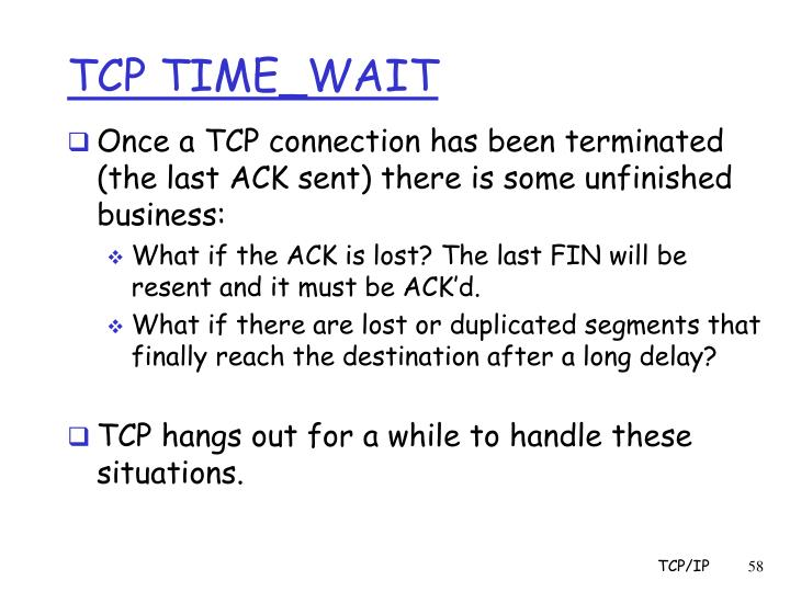 TCP TIME_WAIT