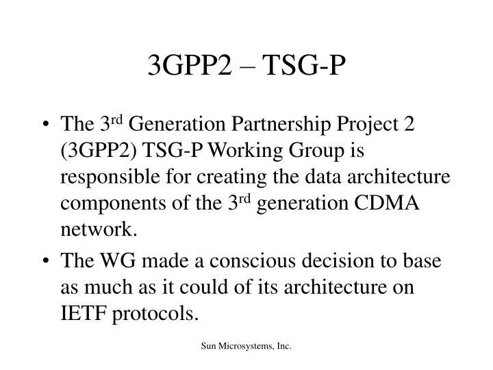 3GPP2 – TSG-P