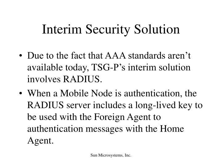 Interim Security Solution