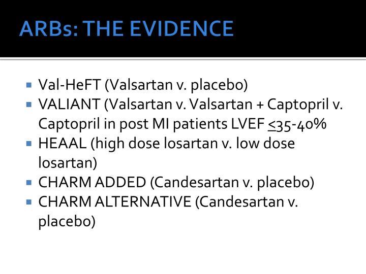 ARBs: THE EVIDENCE